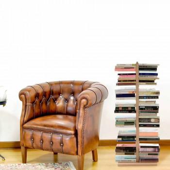 Zia Bice moderne kolonne bogreolke lavet af træ lavet i Italien