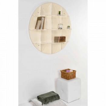 Bibliotek beige væg moderne design Thu, lavet i Italien