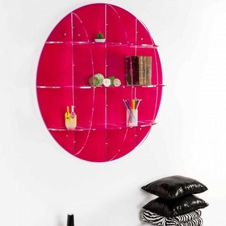 Væg bogreol i farvet plexiglas lavet i Italien, Giofora