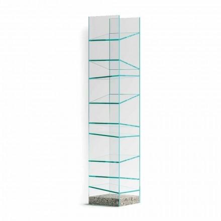 Designgulvreol i glas med stålbase Fremstillet i Italien - Biba