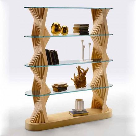 Luksusgulvreol i glas og asketræ Made in Italy - Aspide