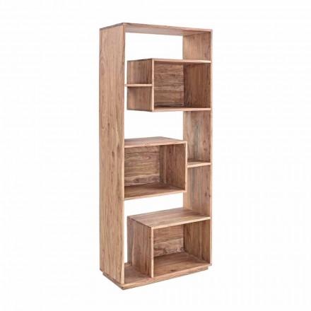 Homemotion moderne gulvreol med akacietræsstruktur - Genza