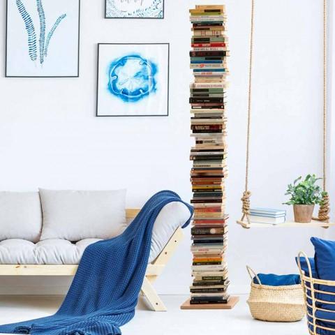 Moderne kolonne bogreol Zia Ortensia bøg træ lavet i Italien