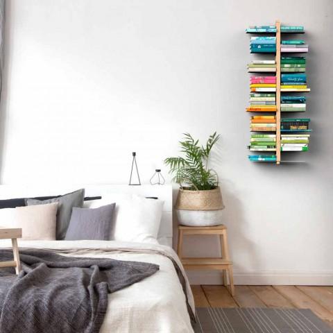 Moderne træhængende bogreol Zia Bice vægmonteret Italien