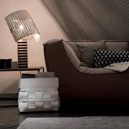 Lory design vægmonteret læder magasin rack, lavet i Italien