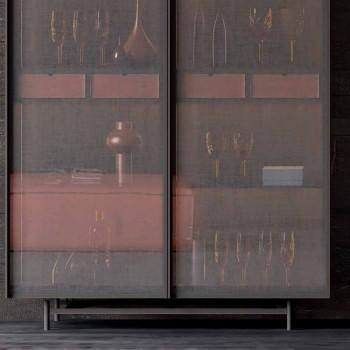 2-dørs skænk i økologisk træ og metal Design Stue eller indgang - Aaron