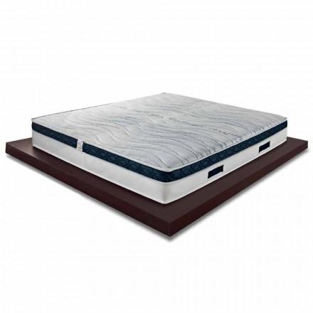 Dobbelt madras høj 22 cm i høj kvalitet hukommelse lavet i Italien - Duran