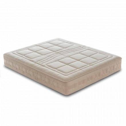 Enkeltmadras H25 cm i luksushukommelse og 1600 fjedre fremstillet i Italien - Grækenland