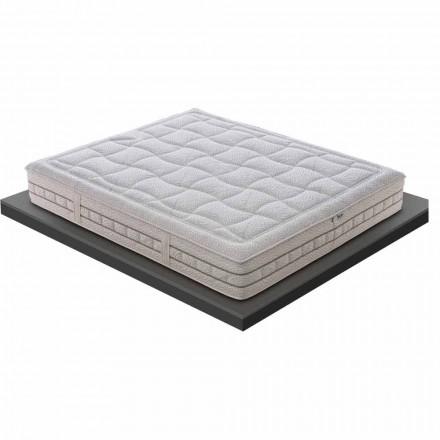 En og en halv madras i luksushukommelse H 25 cm fremstillet i Italien - platin