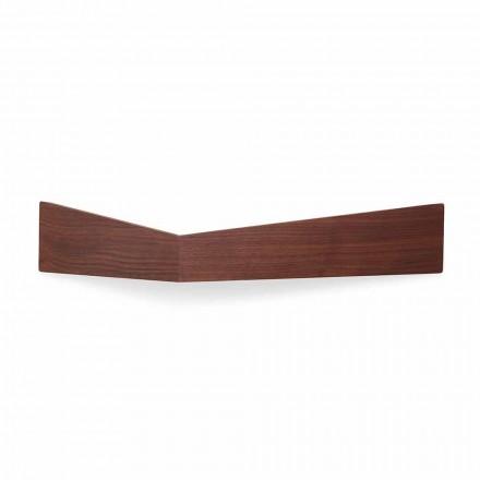 Design væghylde i krydsfiner og metal med pelsstativ - Berema