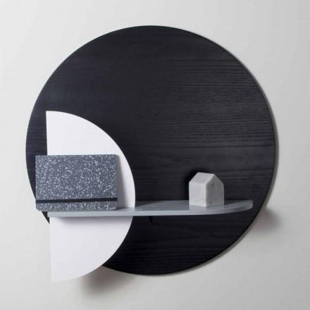 Designhylde i lakeret flerlag sammensat af modulære paneler - Livia