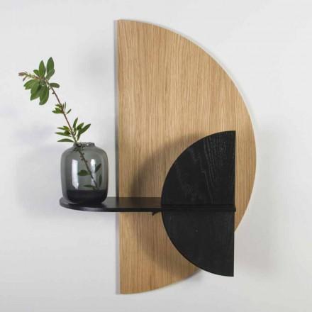 Moderne design modulhylde i eg og sort malet krydsfiner - Arabien