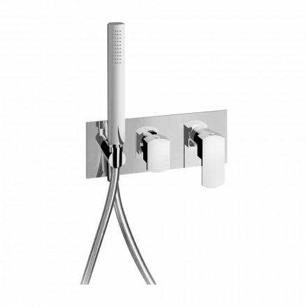 Moderne design indbygget bruserarmatur i messing fremstillet i Italien - Sika
