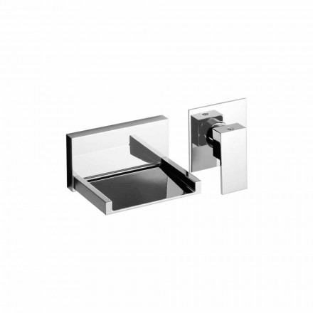 Moderne vægmonteret håndvaskarmatur med vandfaldstud lavet i Italien - Bibo