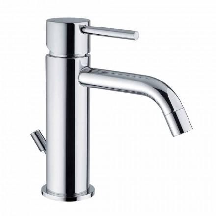Håndvaskarmatur til badeværelset i forkromet messing moderne design lavet i Itlay - Liro
