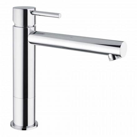 Håndvaskarmatur til badeværelset i forkromet messing uden afløb fremstillet i Italien - Ermia