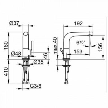 Moderne 1-grebs håndvaskarmatur i metal - Pinto