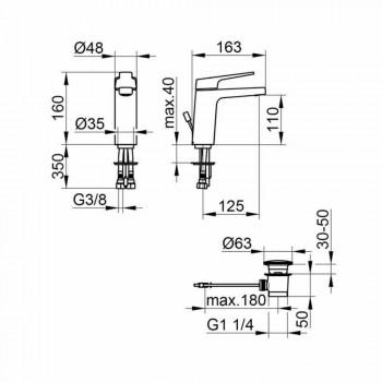Moderne 1-grebs håndvaskarmatur i forkromet metal - Clari