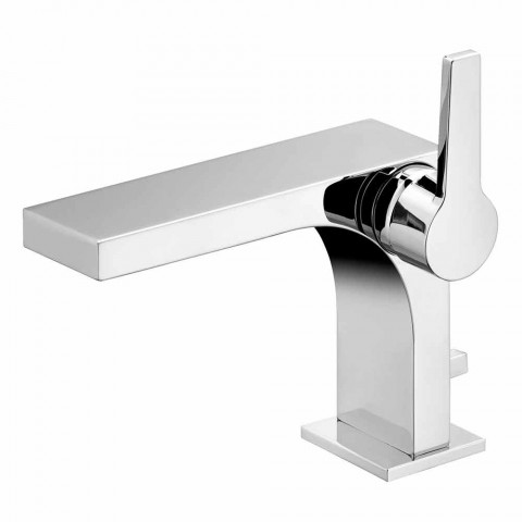 Moderne 1-grebs håndvaskarmatur med metalafløb - Etto