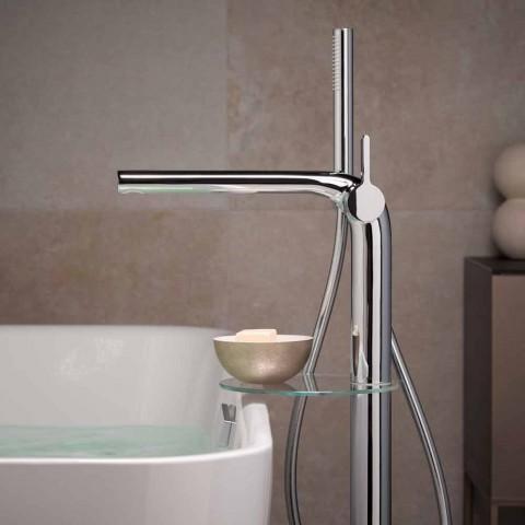 Moderne 1-grebs badekararmatur med brusehoved af metal - Pinto