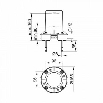 Moderne 1-grebs mixer til badekar i forkromet metal - Girino