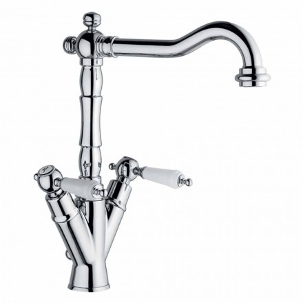 Single-Hole Mixer til klassisk håndvask i messing Made in Italy - Shelly