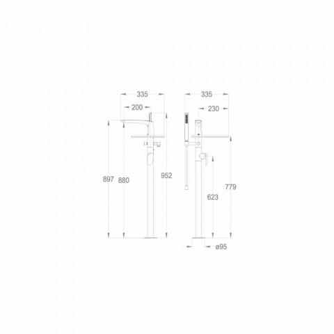 Badekar Deck Mixer i messing af Made Italy Design - Benello