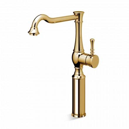 Høj tønde håndvaskarmatur til badeværelset 13 cm forlænger lavet i Italien - Neno
