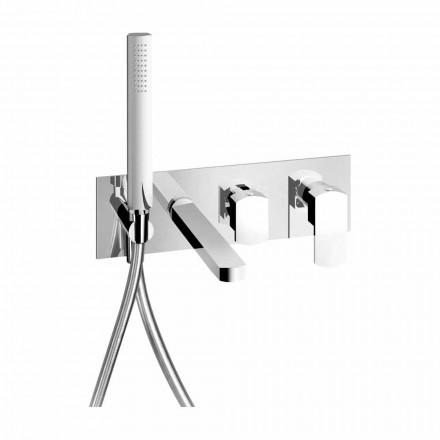 Moderne design indbygget badekararmatur i messing fremstillet i Italien - Sika