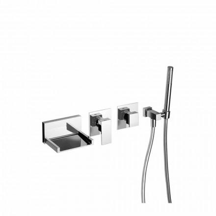 Indbygget badekararmatur med brusersæt Made in Italy - Bibo