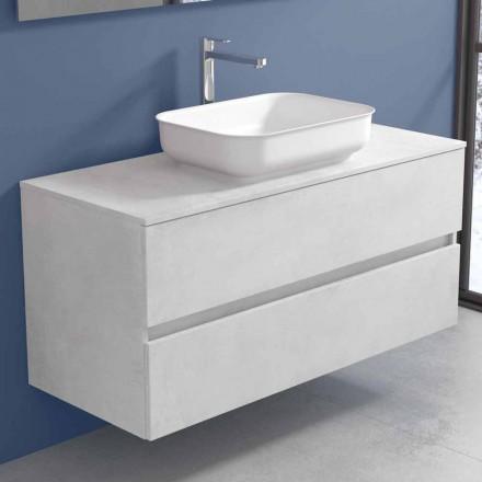Hængende badeværelsesmøbler med designvask i 4 finish - Paoletto