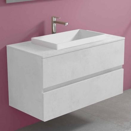 Hængende badeværelsesskab med indbygget håndvask, moderne design - Casimira