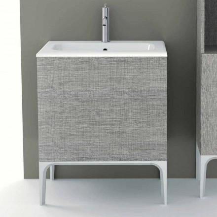 Badeværelsesskab med integreret håndvask i Ambra ecolegno, fremstillet i Italien