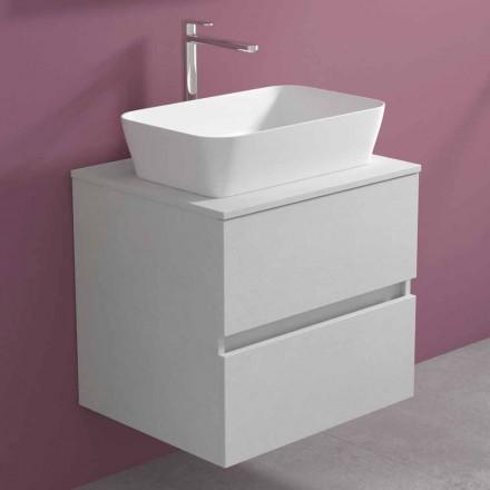 Hængende badeværelsesskab med rektangulær håndvask til bordplade, moderne design - Dumbo