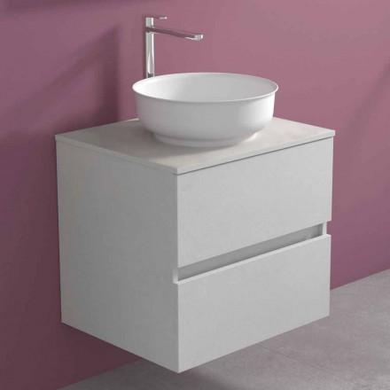 Ophængt badeværelsesskab med rund bordvask, moderne design - Dumbo