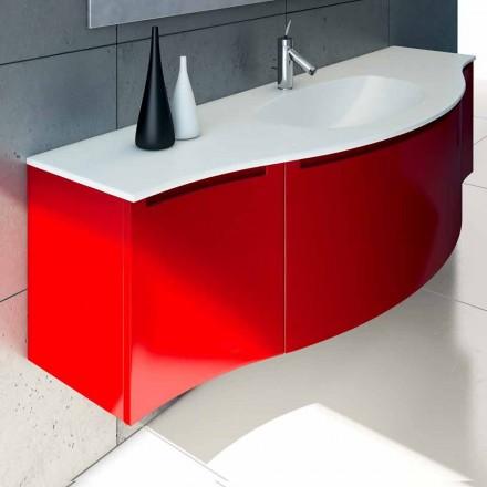 Ophængt badeværelse skab med integreret vask, 1cestone + 2ante Gioia