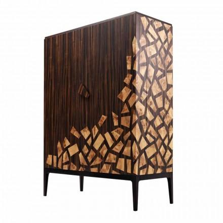 Grilli Zarafa 2-dørs design barskab lavet i Italien i ebenholt træ
