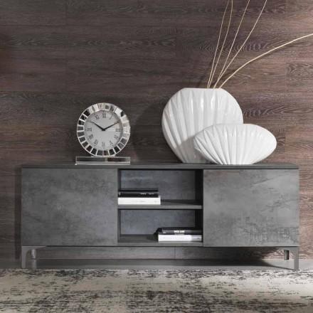 Moderne tv-kabinet Melamin Wood to døre lavet i Italien - Clemente
