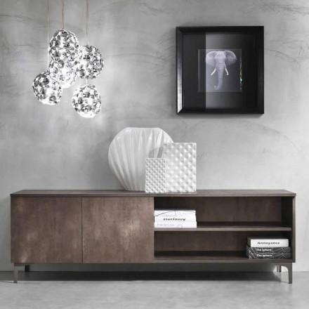 Moderne tv-skab To døre Melamintræ fremstillet i Italien - Clemente