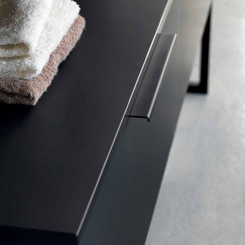 Luksus moderne design badeværelsesmøbler i naturligt træ og sort - Alide