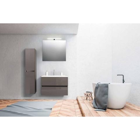Suspenderet badeværelsesmøbler i Mdf lakeret fremstillet i Italien - Becky
