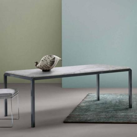 Mit Home Bebop designbord hvid marmor H74xL210cm lavet i Italien