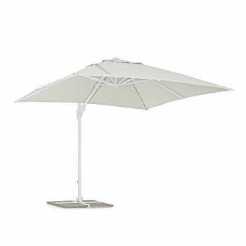 3x3 udendørs paraply i hvid aluminium og polyester - Fasma