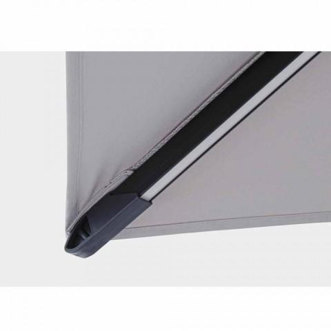 3x3 udendørs paraply i grå polyester og antracitfarvet aluminium - Coby