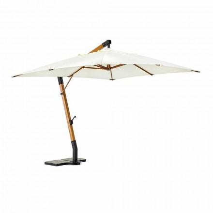 Ecrù farve udendørs paraply i polyester og træ 3x4 Homemotion - Passmore
