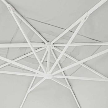 4x4 haveparaply med naturfarvet polyesterstof - Fasma