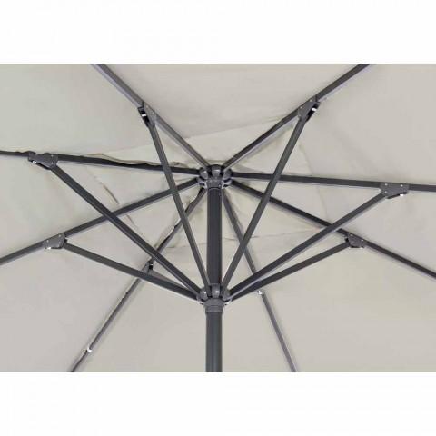 4x4 haveparaply med polyesterstof og stålbase - Nastio