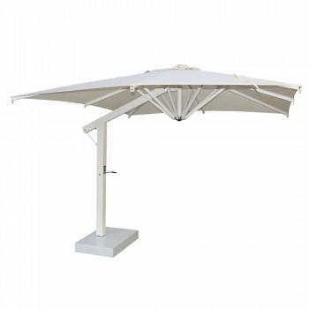 Paraply af aluminium med hvid eller antracit arm 350x350 cm - Lapillo