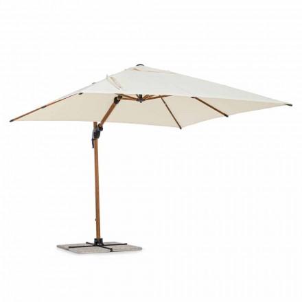 Udendørs paraply, 3x3 i aluminium med beige polyesterbetræk - Leano