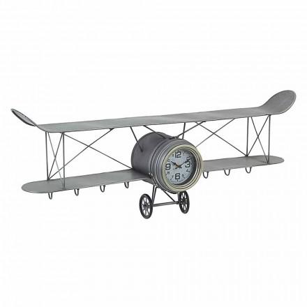 Flyformet vægur i Homemotion i stål og glas - Plano